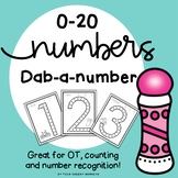 Number Recognition Dab - A - Number // Number Fine Motor Fun!