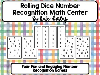 Number Recognition Dice Activity