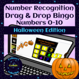 Halloween Number Recognition 0-10 Digital Drag and Drop Bingo