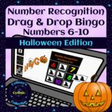 Halloween Number Recognition 6-10 Digital Drag and Drop Bingo