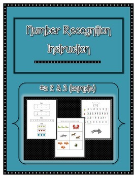 Number Recognition and Identification Instruction- Sample #s 2 and 3