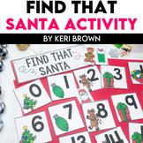 Number Sense & Letter Recognition - Find That Santa