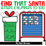 Number Sense & Letter Recognition - Find That Santa