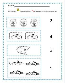 Number Recognition - Fish Theme