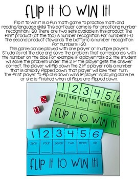 Number Recognition Flip It to Win It