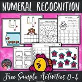 Number Recognition Free Sample 0-4