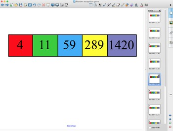 Number Recognition Game- SMART Notebook