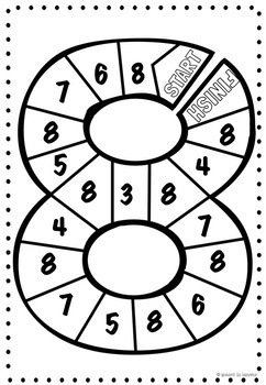 Number Recognition Game Boards Bundle Numbers 0-10