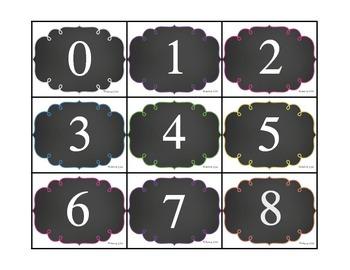 Number Recognition Game-  Say, Find, Color