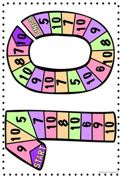 Number Recognition Game boards 6 - 10