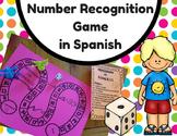 Number Recognition Game in Spanish (Juego del reconocimiento de numeros)