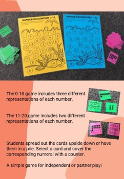 Number Recognition Game to 10 and 20