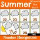 Number Recognition Games Seasonal Bundle