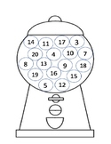 Number Recognition Gum Ball Machine