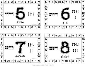 Number Recognition Hole Punch Cards