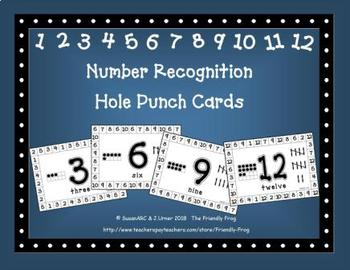 Number Recognition Hole Punch Cards   Distance Learning