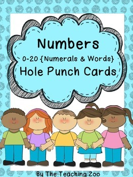Number Recognition Hole Puncher Cards 0 to 20