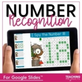 Number Recognition I Spy Numbers for use with Google Slides™