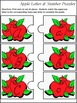 Number Recognition & Letter Recognition: Apple Letter & Number Puzzles Activity