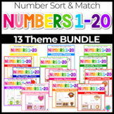 1-20 Number Recognition Mats GROWING BUNDLE | Ten-frames, Array, Tally Marks