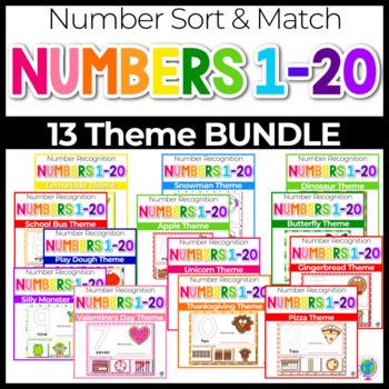 1-20 Number Recognition Mats BUNDLE   Ten-frames, Array, Tally Marks