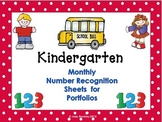 Number Recognition Monthly Assessments