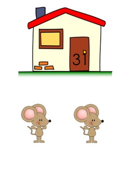 Number Recognition: Mouse in the House Pocket Chart Game