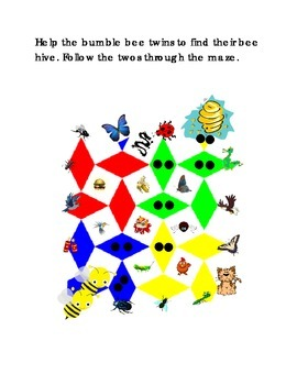 Number Recognition Number 2 Two Dots Bee to Hive Kindergarten Math