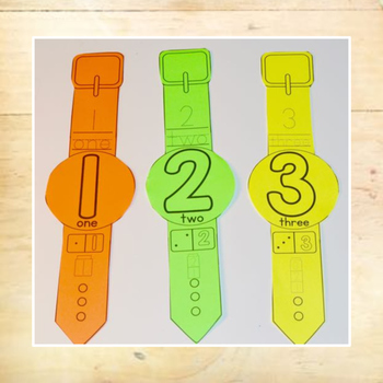 Number Recognition - Number Bracelets