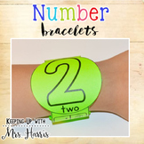 Number Recognition - Number Bracelets