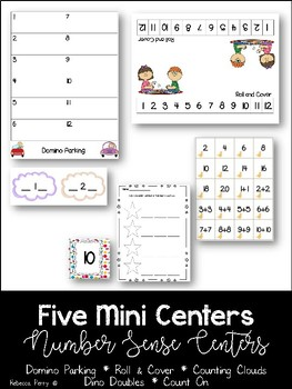 Number Sense - 5 Mini Activities - Math Centers