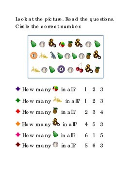 Number Recognition Number Six Five Four Three How Many Kin