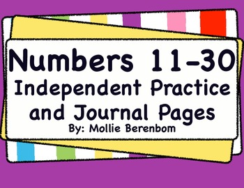 Number Recognition: Numbers 11-30