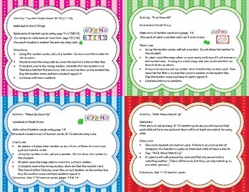 Number Recognition Pack 6-10