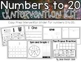 Numbers 0-20 Intervention Kit