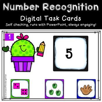 Digital Kindergarten Number Recognition Power Point Game (0-10)