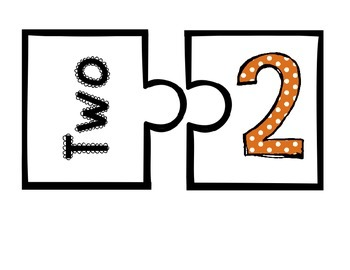 Number Recognition Puzzle 1-20