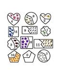 Number Recognition Puzzle Cut Pieces Match Spring Color 0