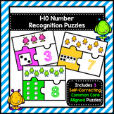Number Recognition Puzzles 1-10
