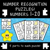 Number Recognition Puzzles 1-20!