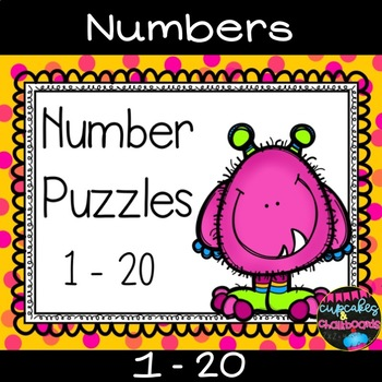 Number Recognition Puzzles 1-20