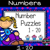 Number Recognition Number Sense Puzzles 1-20