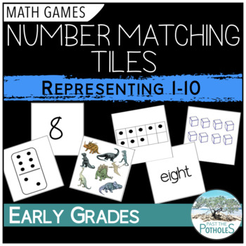 Number Recognition - Representing Numbers 1-10 - Flashcards, game