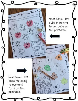 Number Recognition, Roll and Color, Fall
