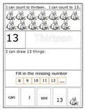 Number Recognition Sentence Builder Number 13
