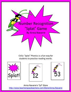 """Number Recognition """"Splat"""" Game"""