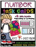 Number Recognition Task Cards [Task Box]