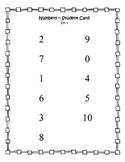 Number Recognition Test - student card