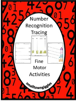 Number Recognition Tracing Activities Early Childhood, P-K, K, Special Education