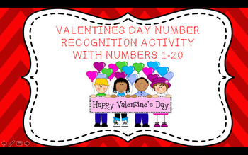 Number Recognition Valentine/February Heart Activity